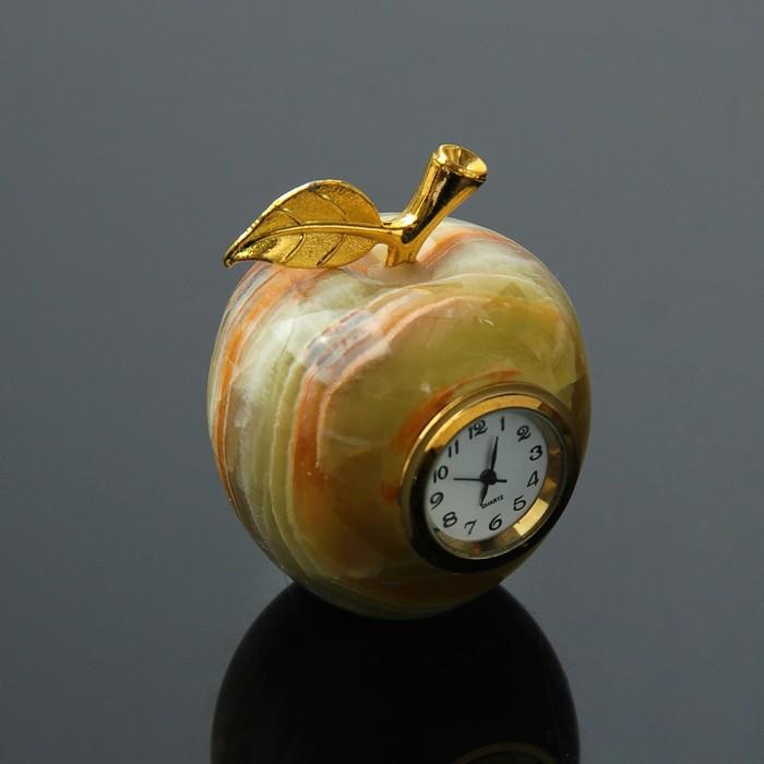 Часы «Яблоко», D=5 см, оникс