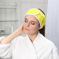Повязка для волос на липучке Чистовье, махровая, 1 шт/уп, цвет МИКС
