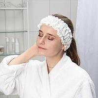 Набор фиксаторов для волос с двумя резинками одноразовый Чистовье, спанлейс, 10 шт/уп, цвет белый