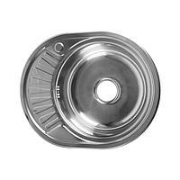 """Мойка кухонная JIF 31053, врезная, толщина 0.6 мм, 57х45х16 см, правая, сифон, выпуск 3 1/2"""""""