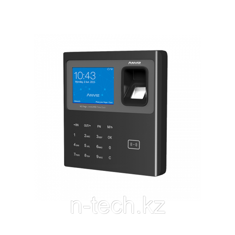 ANVIZ W1-ID PRO черный. Биометрический терминал учета рабочего времени со считывателем