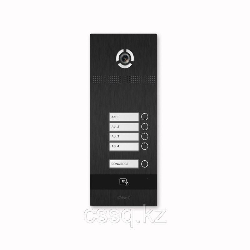 BasIP BI-04FB BLACK Вызывная панель на 4 абонента