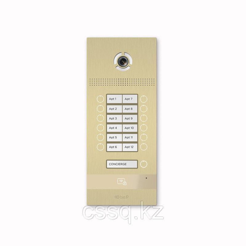 BasIP BI-12FB GOLD Вызывная панель на 12 абонентов