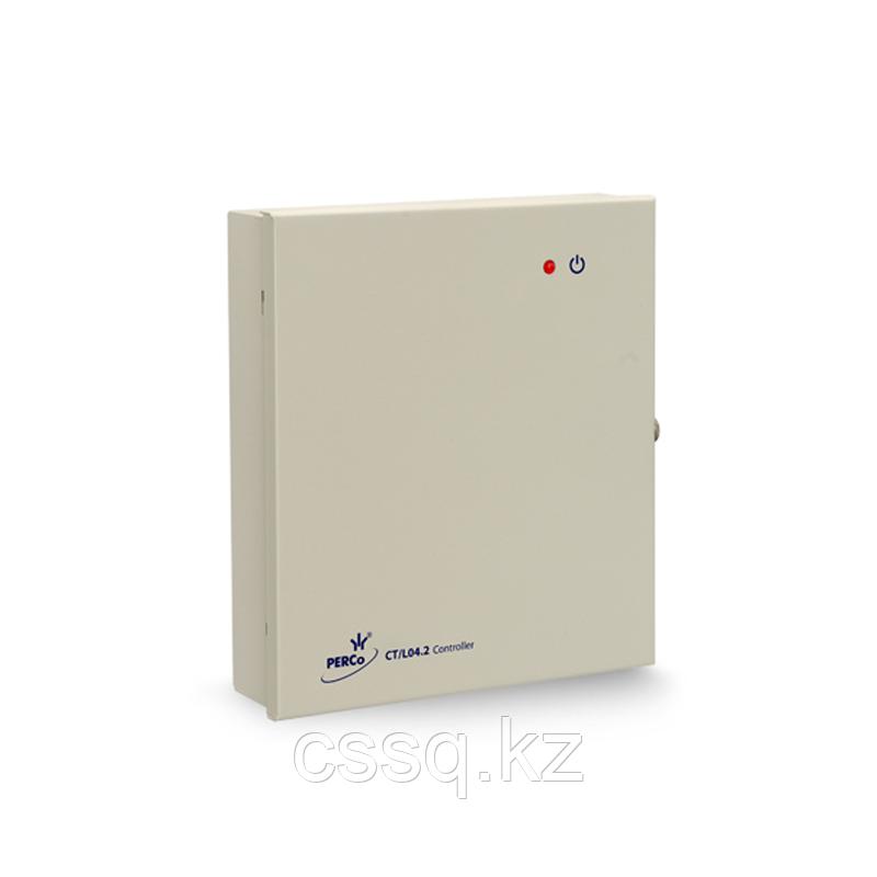 PERCo-CT/L04.2 Контроллер универсальный замка/турникета на 4 считывателя,Ethernet