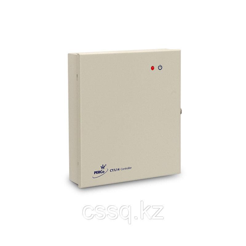 PERCo-CT/L14 Универсальный контроллер замка/турникета на 8 считывателей, Ethernet