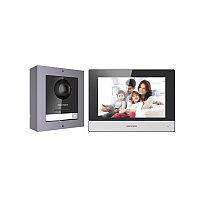 """Hikvision DS-KIS602 Комплект DS-KD8003-IME1 (вызывная панель) + DS-KH6320-WTE1 (монитор 7"""")"""