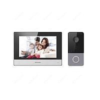 """Hikvision DS-KIS603-P Комплект DS-KV6113-WPE1 (вызывная панель) + DS-KH6320-WTE1 (монитор 7"""")"""