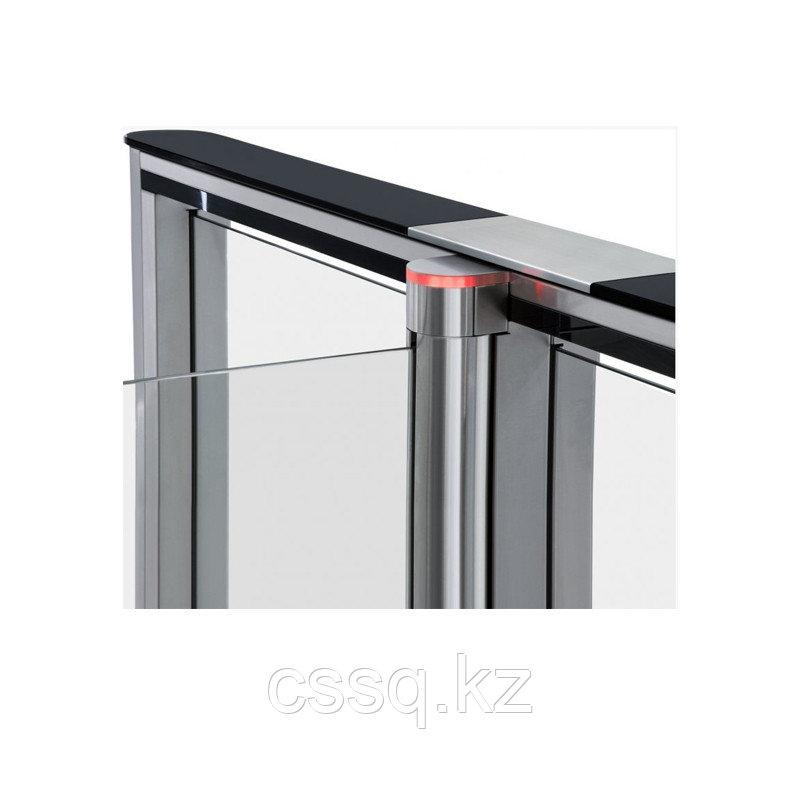 PERCo-SDС-01GS Крышка из закаленного стекла с центральной вставкой из нержавеющей стали