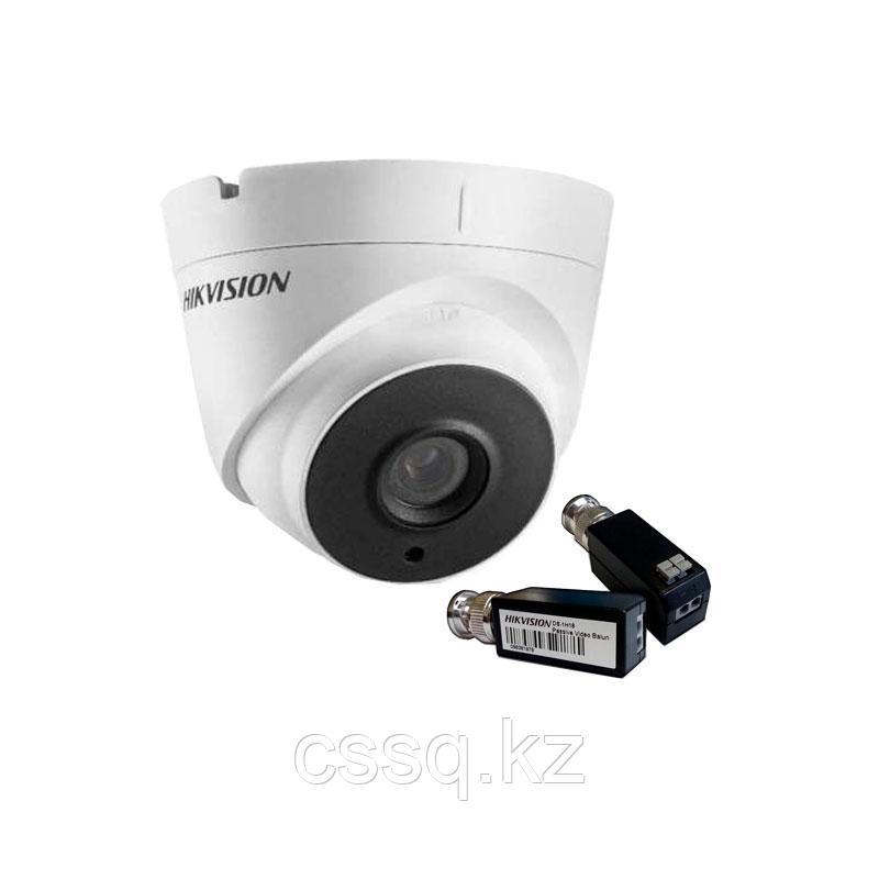 Hikvision DS-2CE56F7T-IT1 (3,6 мм) 3Мп купольная видеокамера+ DS-1H18 Комплект