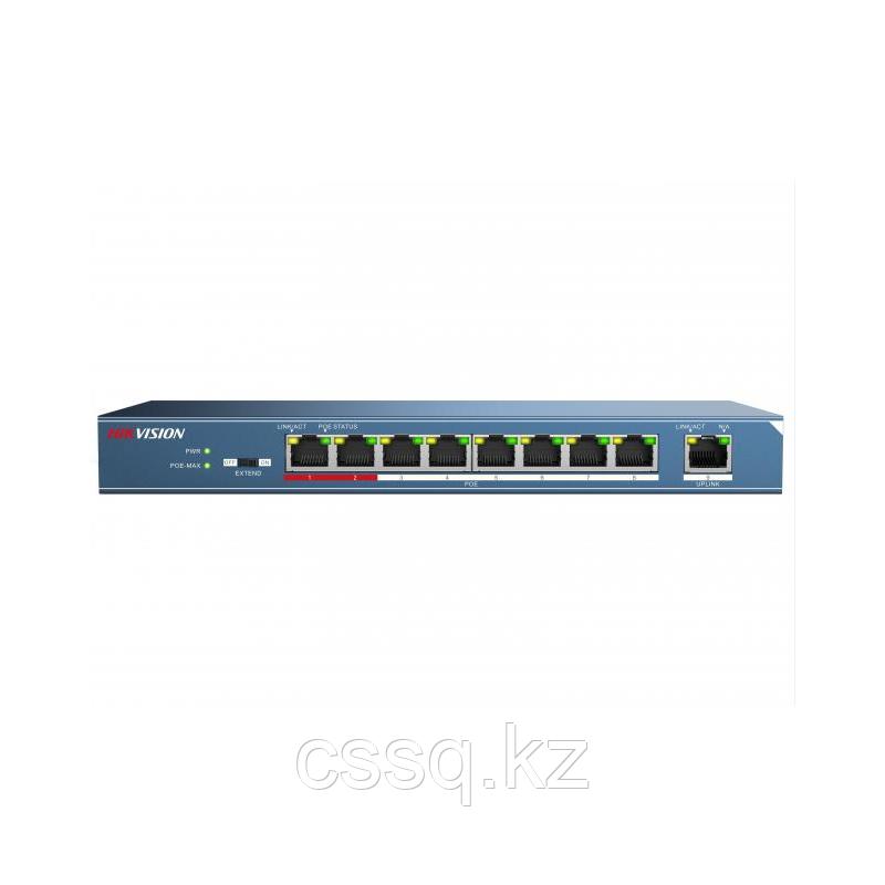 Hikvision DS-3E0109P-E PoE свитч 8-портовый (Акция)