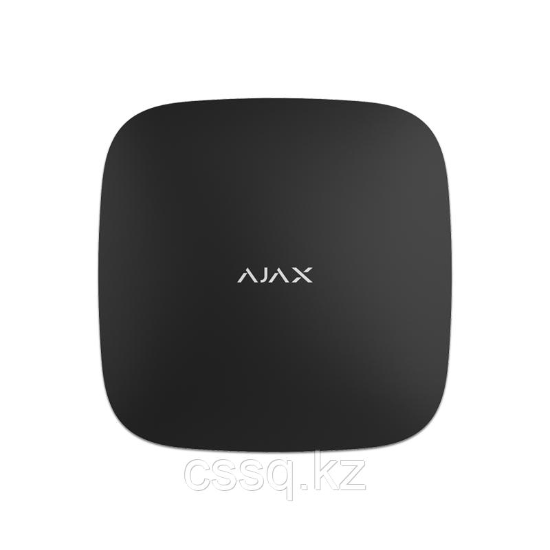 Hub черный Контроллер систем безопасности Ajax