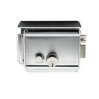 IHold-203 Электромеханический замок, накладной, c козырком и блокировкой кнопки