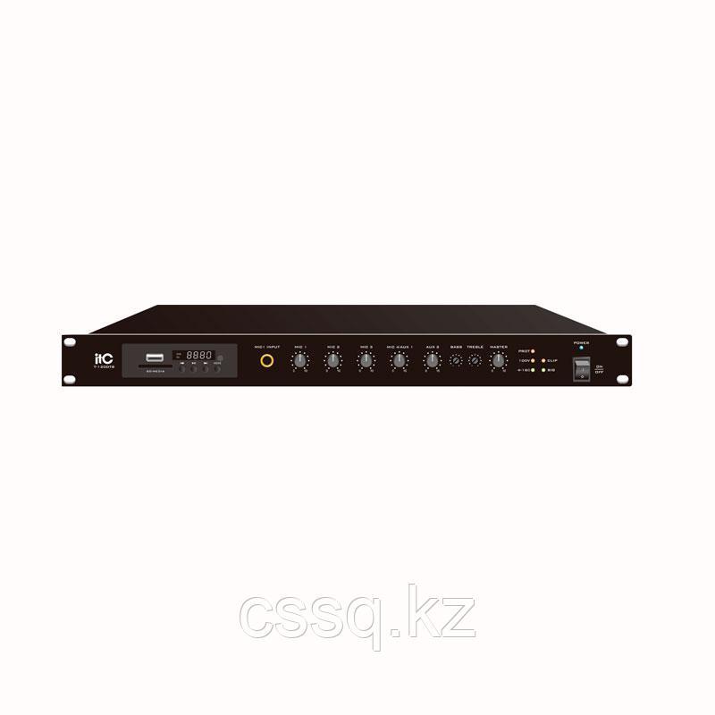 ITC T-240DTB Усилитель микшерный, цифровой с Мр3, тюнером, Bluetooth