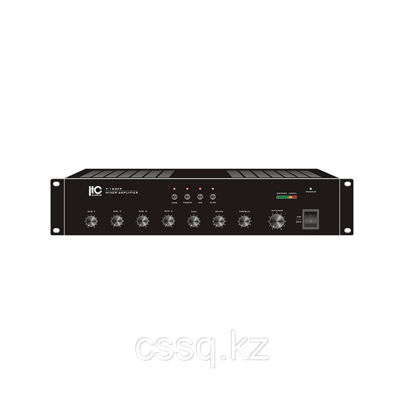ITC T-240FP Микширующий усилитель 240Вт (240В, фантомное питание, 4 микрофонных, 4 линейных входа)