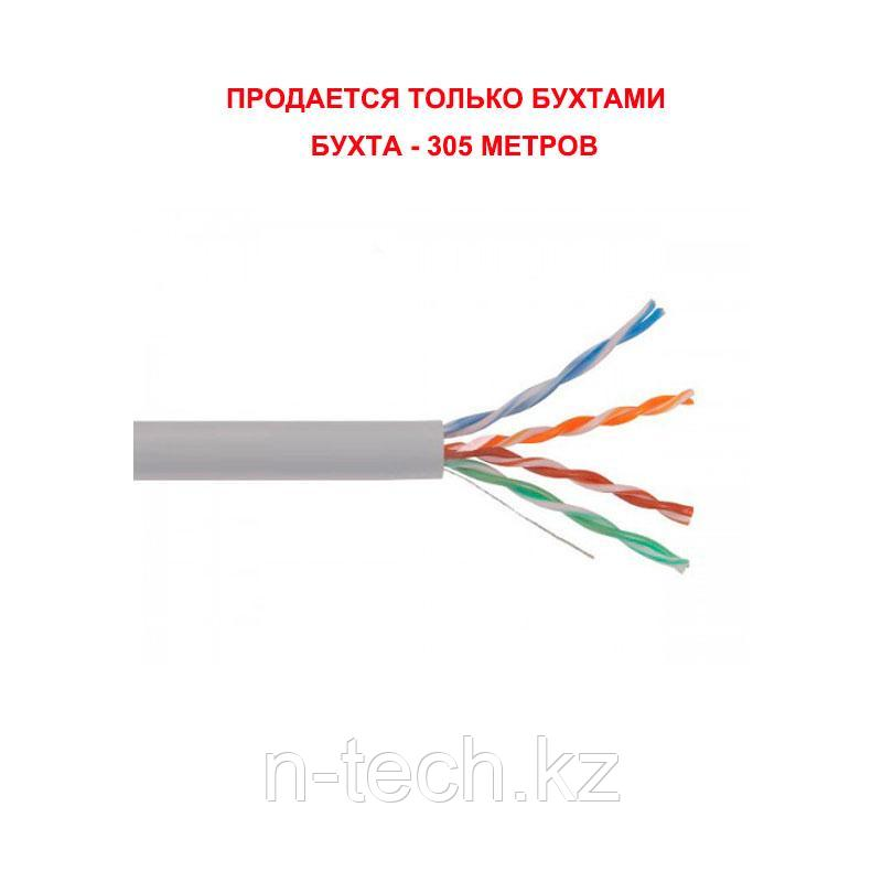 KCEP Кабель U/UTP 4х2 AWG 24/1 PVC Cat. 5e (0,51), СЕРЫЙ