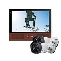 Комплект Slinex Sonik-7 черный + 2 видеокамеры EZCVI HAC-B1A02P