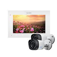 Комплект Slinex SQ-07MTHD цвет белый +2 видеокамеры EZCVI HAC-B1A02P