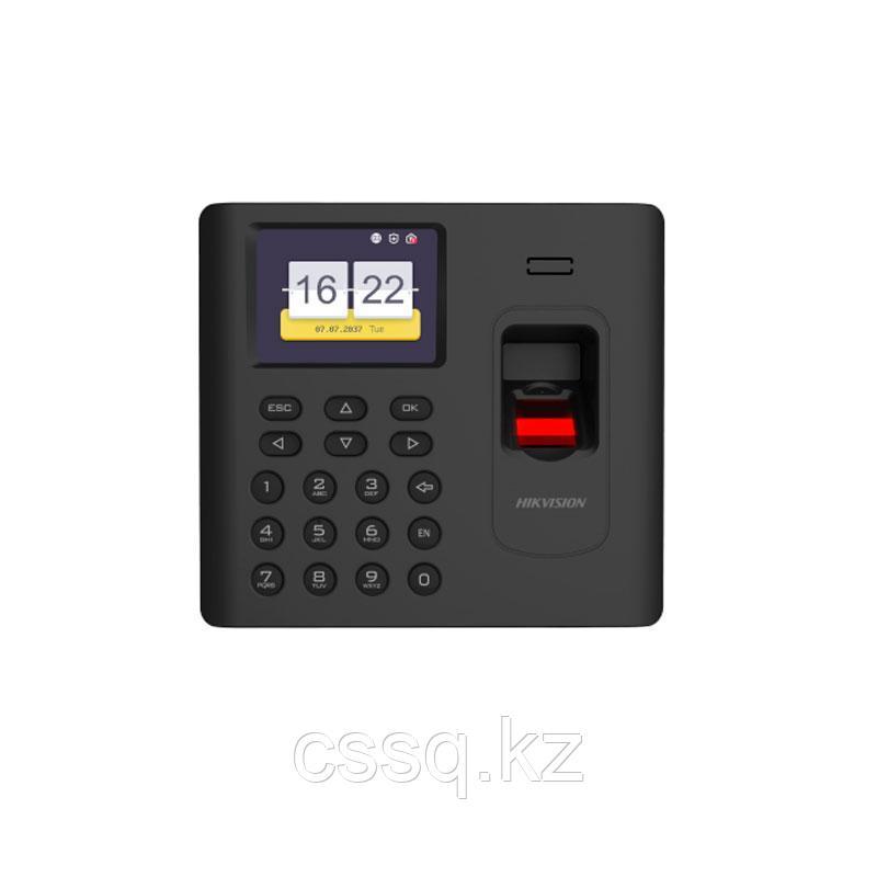 Hikvision DS-K1A802AEF-B Терминал учета  со встроенными считывателями EM карт и отпечатков пальцев
