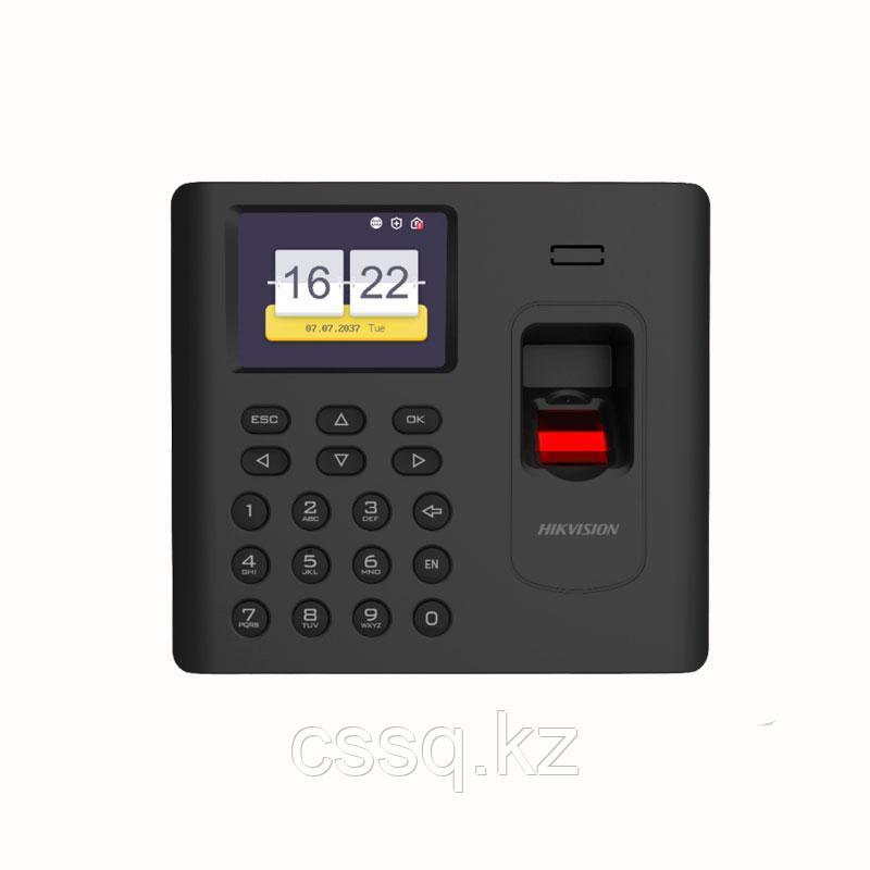 Hikvision DS-K1A802AMF-B Терминал учета  со встроенными считывателями Mifare карт и отпечатков