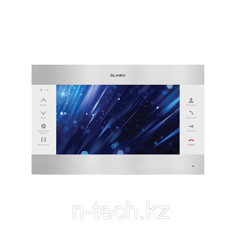 """Slinex SL-10M цвет серебро + белый. 10"""" Домофон с программной детекцией движения и функцией памяти"""