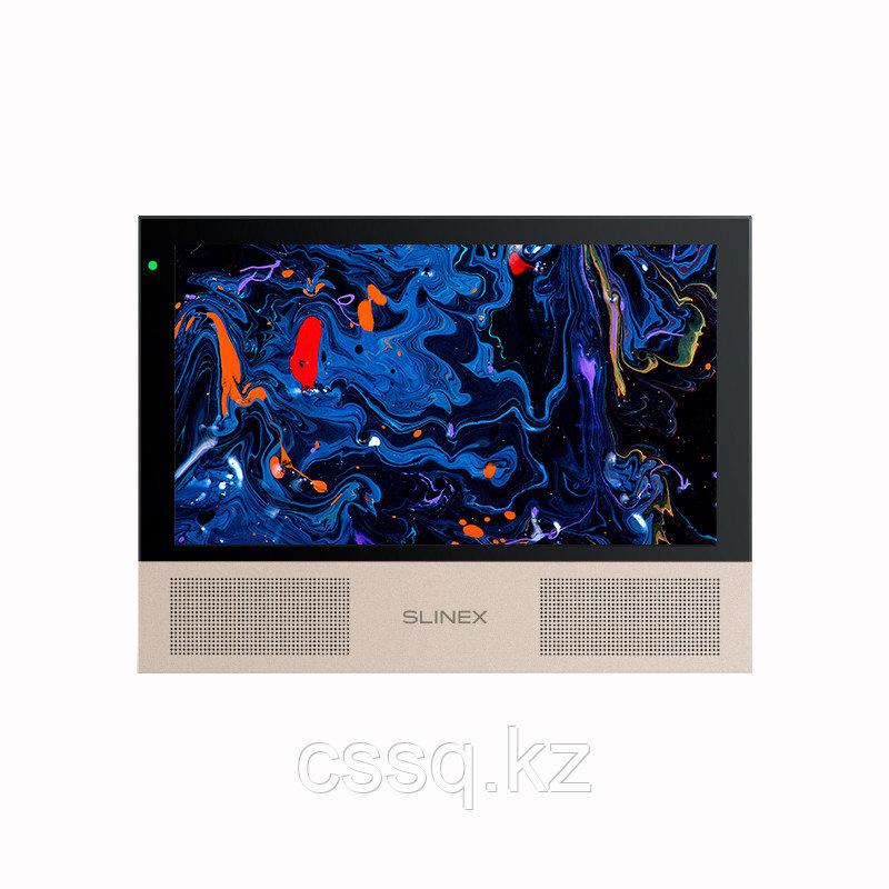 """Slinex Sonik-10  цвет черный. 10"""" AHD Домофон с сенсорным экраном, динамиками и сменными панелями"""