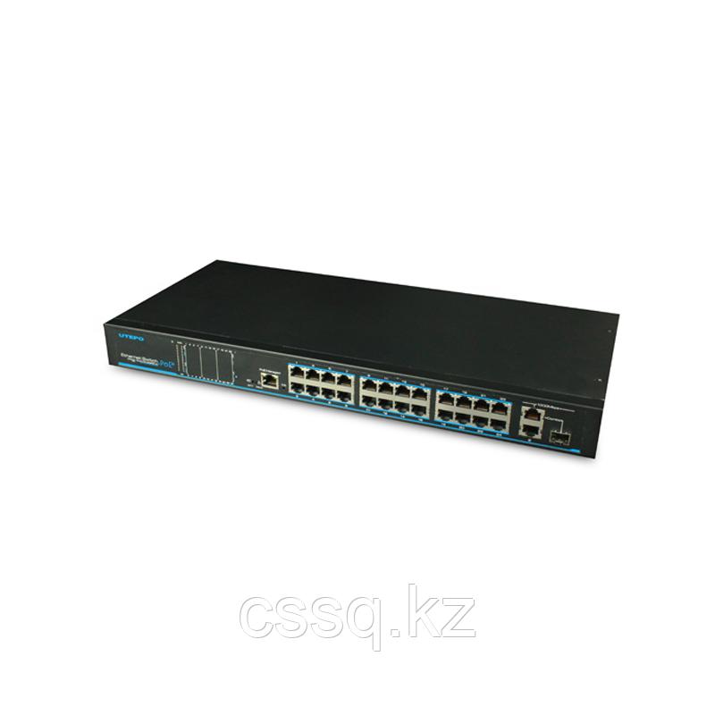 UTEPO UTP1-SW24-TP420 Коммутатор 24-портовый неуправляемый PoE+ 1комбопорт