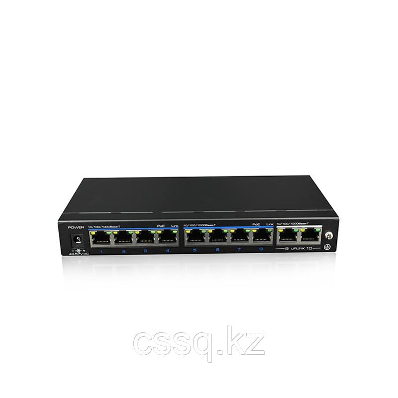 UTEPO UTP3-SW08-TP120-A1 Коммутатор 8-портовый неуправляемый PoE+ 2 uplink порта 1080p