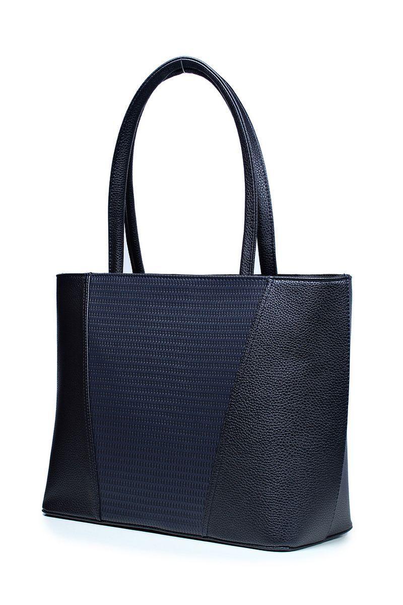 Женская осенняя кожаная синяя сумка Galanteya 2420.0с1295к45 синий_т. без размерар. - фото 1