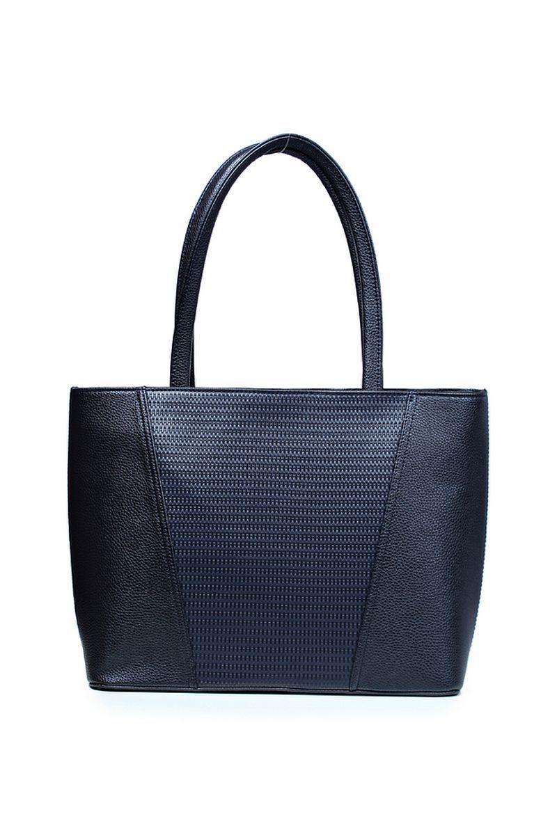 Женская осенняя кожаная синяя сумка Galanteya 2420.0с1295к45 синий_т. без размерар. - фото 2