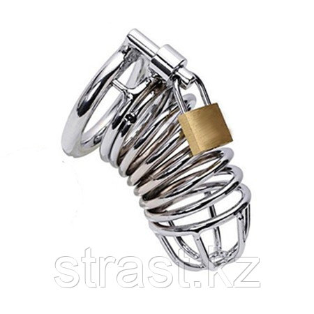 Металлический пояс верности мужской в виде спирали