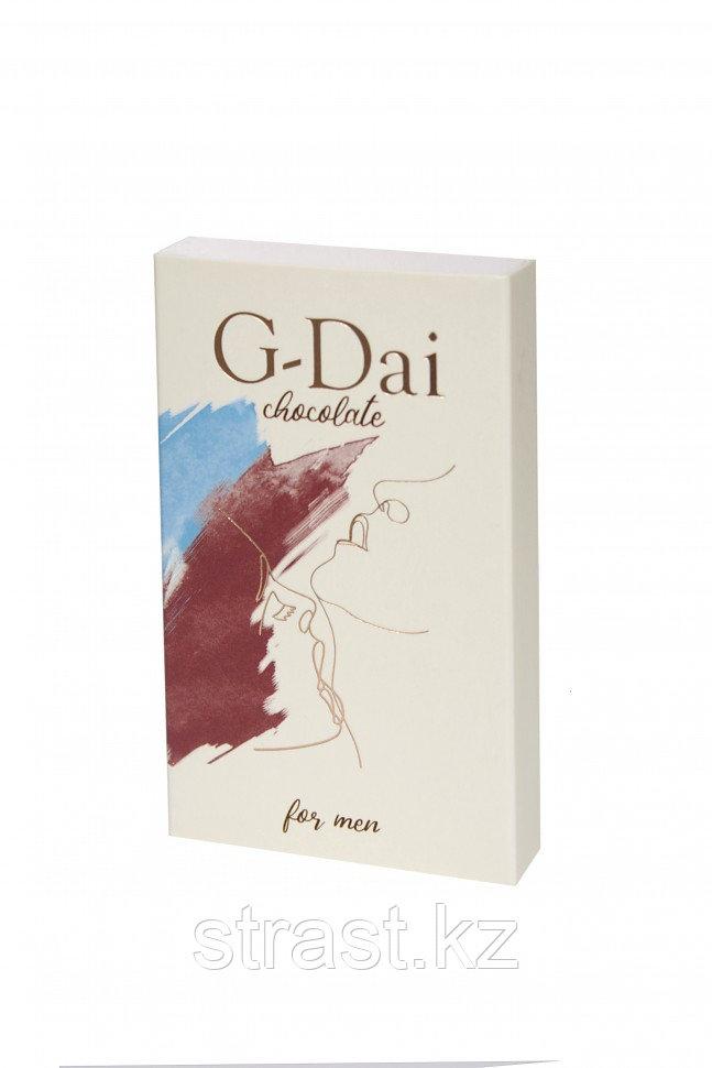 Возбуждающий шоколад для мужчин G-Dai (Джи-дай) темный 15 мг
