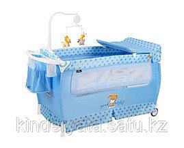 Манеж - кровать Lorelli SLEEP 'N' DREAM синий