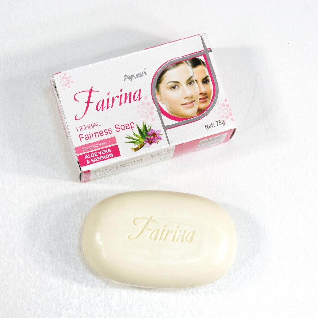 Отбеливающее Мыло Файрина, 75 гр, Ayusri, очищает, тонизирует и увлажняет кожу