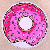 Полотенце «Пончик» круглое, пляжное,150 см