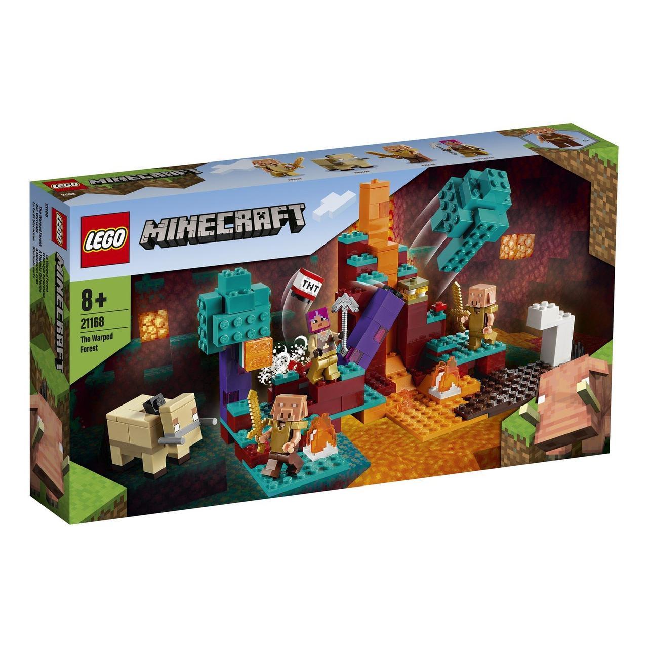 21168 Lego Minecraft Искажённый лес, Лего Майнкрафт