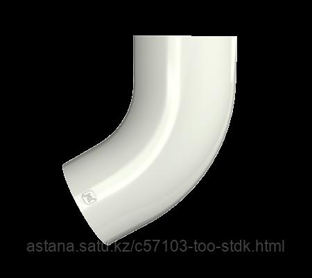 Колено трубы 60°, Металлическая водосточная система, белый