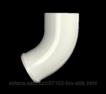 Отвод трубы,  белый