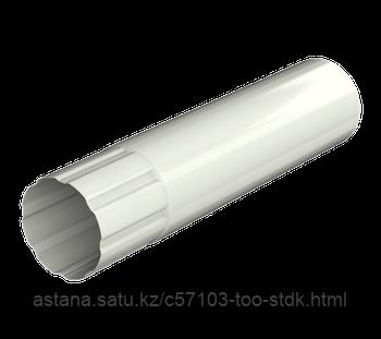 Металлическая водосточная система, труба d 90 мм, белый, Технониколь 3000