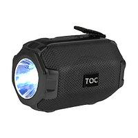 Колонка беспроводная стерео bluetooth-спикер для смартфонов с фонарем Toremic TOC 77 черная