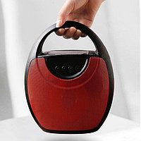 Колонка беспроводная стерео bluetooth-спикер для смартфонов с поддержкой FM-радио RS 417 красная