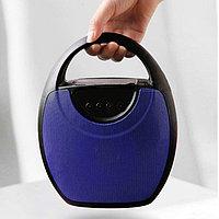 Колонка беспроводная стерео bluetooth-спикер для смартфонов с поддержкой FM-радио RS 417 синяя
