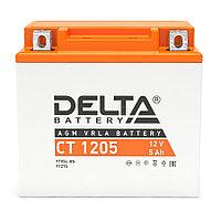 Аккумулятор DELTA CT1205 12v 5Ah YT5L-BS, YTZ7S, YTX5L-BS AGM/VRLA battery