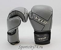 Перчатки боксерские VELO  из кожы, серый/черный цвет