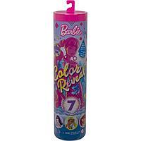 Mattel Barbie Кукла-сюрприз Волна 1 с розовой куклой и сюрпризами внутри GTR93