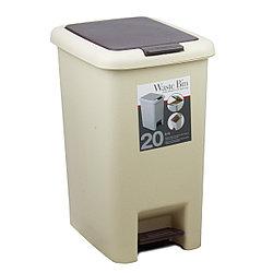 Ведро для мусора 2в1 с педалью пластмассовое 20 л.