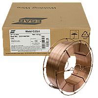 Проволока омедненная ESAB ОК Weld G3Si1 Ø 1.2 мм ((каркас кат. 15 кг) аналог Autrod 12.51 Китай