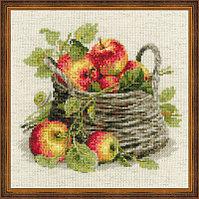 """Набор для вышивания крестом РИОЛИС 1350 """"Спелые яблоки"""""""