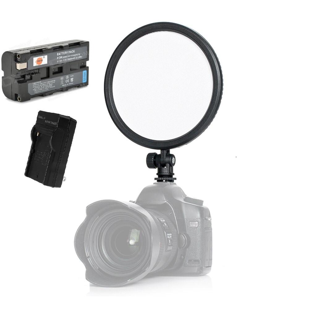Накамерный LED 112 прожектор CM-200D Ультра тонкий с аккумулятором и зарядным устройством