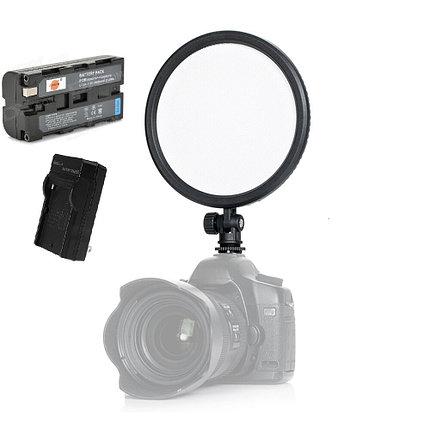 Накамерный LED 112 прожектор CM-200D Ультра тонкий с аккумулятором и зарядным устройством, фото 2