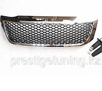 Решетка радиатора на Toyota Hilux/Vigo 2012-15 дизайн TRD с хромом